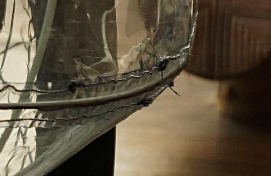 Le Pare-Apluie, carénage souple démontable pour trike ... Et en bois? Coutures